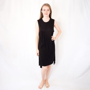 DIANE VON FURSTENBERG Black Drape Dress 0256
